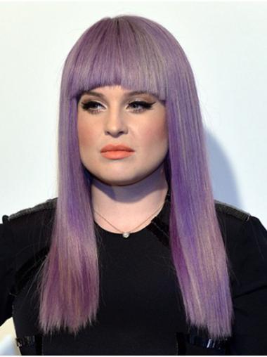 Purple Best Capless Long With Bangs Kelly Osbourne Wigs