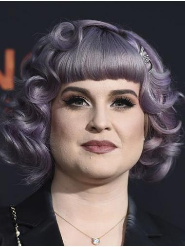 Purple Fabulous Lace Front Chin Length Bobs Kelly Osbourne Wigs