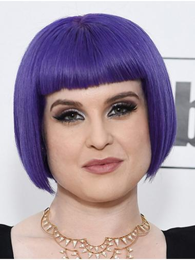 Purple High Quality Capless Chin Length Bobs Kelly Osbourne Wigs