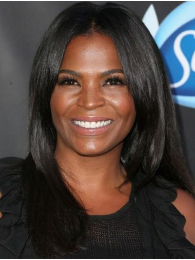 Black New Lace Front Long Without Bangs Nia Long Wigs