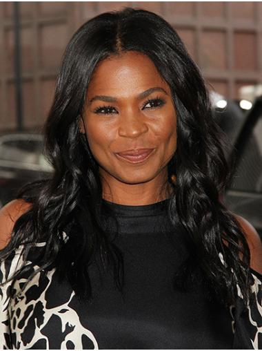 Black Soft Lace Front Long Without Bangs Nia Long Wigs