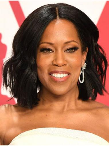 Black Trendy Lace Front Chin Length Bobs Regina King Wigs