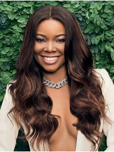 Brown Discount Lace Front Long Without Bangs Gabrielle Union Wigs