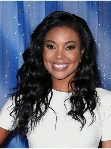 Black Affordable Full Lace Long Without Bangs Gabrielle Union Wigs