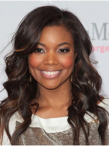 Ombre/2 Tone For Women Lace Front Long Without Bangs Gabrielle Union Wigs