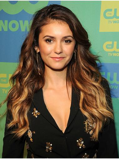 Ombre/2 Tone Suitable Lace Front Long Without Bangs Nina Dobrev Wigs
