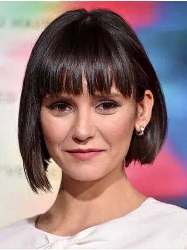 Brown Natural Capless Chin Length Bobs Nina Dobrev Wigs