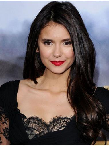 Black New Lace Front Long Without Bangs Nina Dobrev Wigs