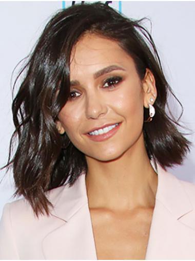 Black Trendy Lace Front Shoulder Length Bobs Nina Dobrev Wigs