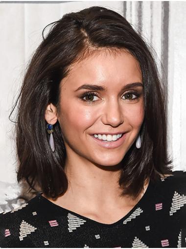 Brown Trendy Lace Front Shoulder Length Bobs Nina Dobrev Wigs