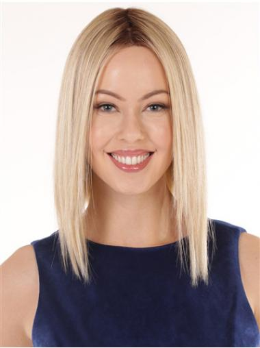 "12"" Shoulder Length Hairstyles Blonde Wavy Bob Wigs"