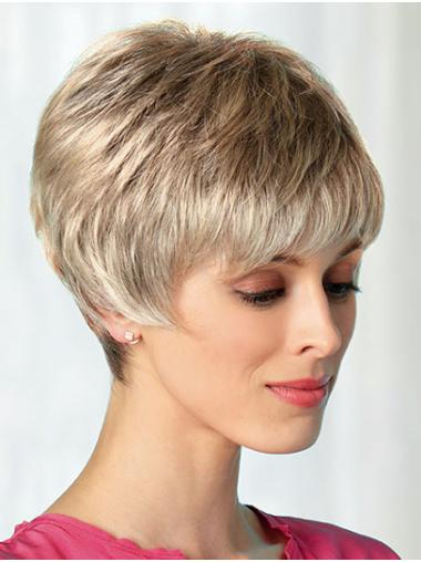 """Boycuts Blonde 8"""" Best Short Wigs"""
