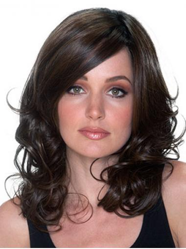 """Brown 16"""" Layered Long Stylish Monofilament Wigs"""