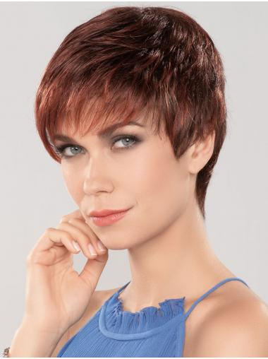 "Auburn 4"" Boycuts Fashionable Capless Synthetic Wigs"