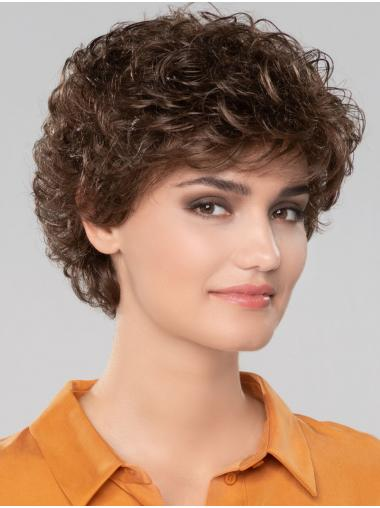 """Curly Brown Short 8"""" Gorgeous Classic Wigs"""
