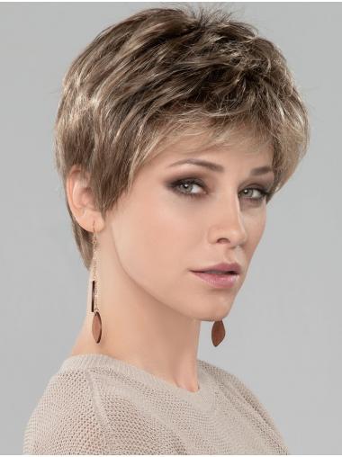 "Blonde 4"" Boycuts Cropped Discount Monofilament Wigs"