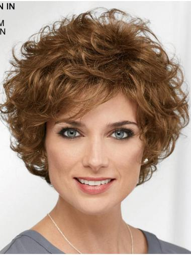 """Curly Brown Short 8"""" Designed Classic Wigs"""