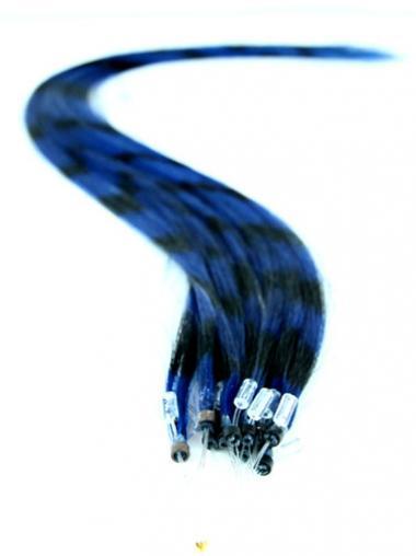 Durable Black Straight Micro Loop Ring Hair Extensions
