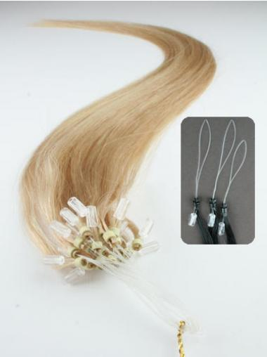 Gorgeous Blonde Straight Micro Loop Ring Hair Extensions