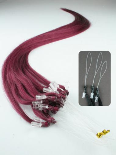 Suitable Red Straight Micro Loop Ring Hair Extensions