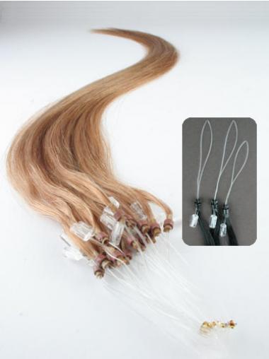 Popular Blonde Straight Micro Loop Ring Hair Extensions