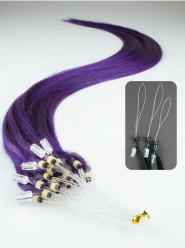 Natural Black Straight Micro Loop Ring Hair Extensions