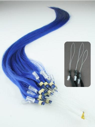 Affordable Black Straight Micro Loop Ring Hair Extensions