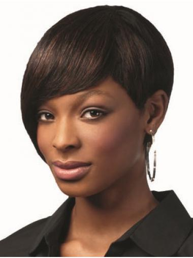 Bobs Brown Capless Short Straight Human Hair For Black Woman UK