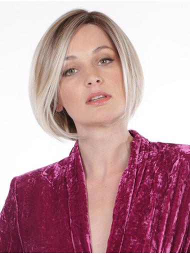 """Straight Blonde Synthetic Designed 10"""" Bob Wigs"""