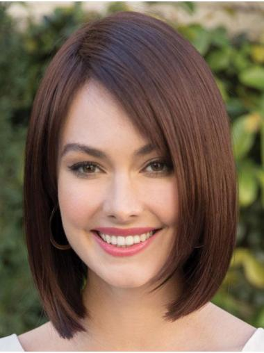 """Straight Brown Synthetic No-fuss 10"""" Bob Wigs"""