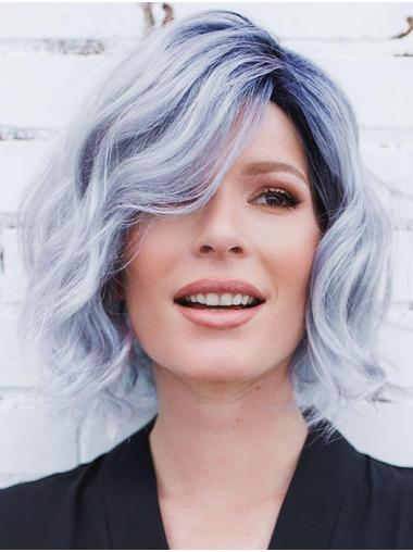 "Curly Blue Synthetic Fashion 10"" Bob Wigs"
