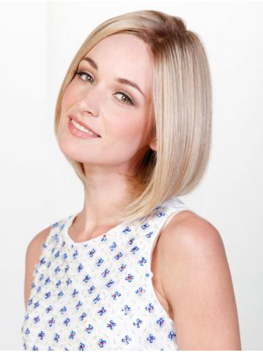 "Straight Blonde Synthetic Good 10"" Bob Wigs"