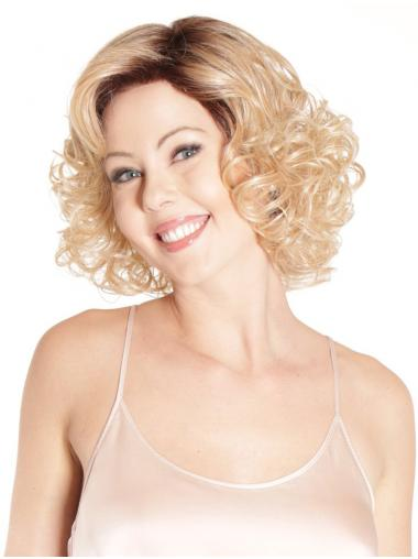 Chin Length New Synthetic Lace Front Curly Classis Wigs
