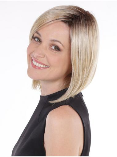 """Straight Blonde Synthetic Exquisite 10"""" Bob Wigs"""