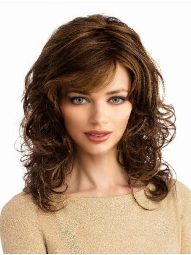 Long Style Synthetic Monofilament Curly Classis Wigs