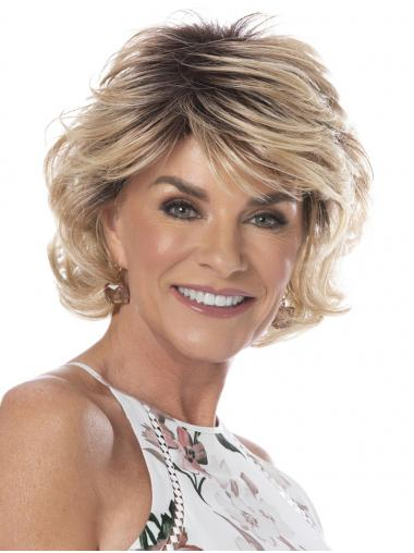 Short Affordable Synthetic Capless Wavy Classis Wigs
