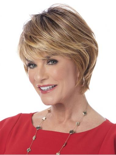 """Straight Blonde Synthetic Amazing 6"""" Bob Wigs"""