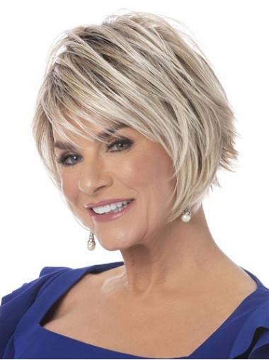 "6"" Straight Capless Flexibility Boycuts Synthetic Wigs"