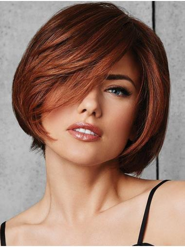 "Straight Auburn Synthetic Great 10"" Bob Wigs"
