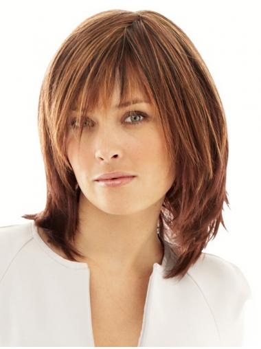 Synthetic Wigs Online UK With Monofilament Layered Cut Straight Style