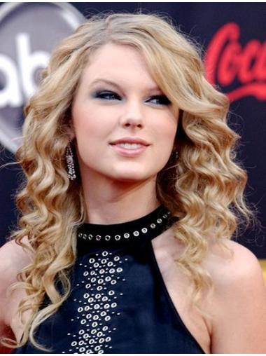 Capless Without Bangs Curly Long Blonde No-Fuss Taylor Swift Wigs