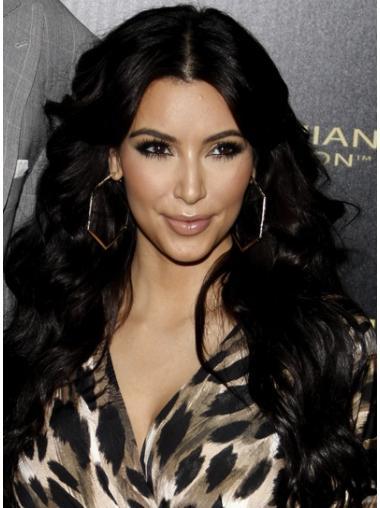 Kim Kardashian Lace Front Remy Human Black Color Long Length
