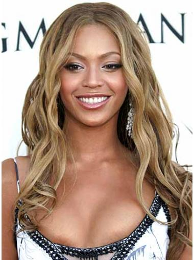 "Long Capless Blonde Synthetic Wavy 16"" Beyonce Wig UK"