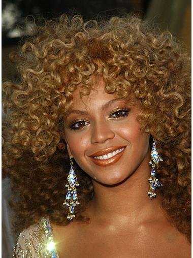 """Shoulder Length Curly Layered Capless 14"""" Trendy Beyonce Wigs"""