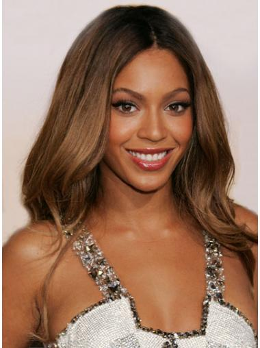 """Long Wavy Without Bangs Lace Front 24"""" Comfortable Beyonce Wigs"""