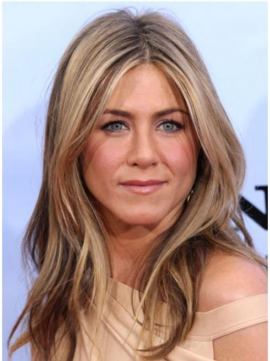 """Long Wavy Without Bangs Lace Front Blonde Discount 20"""" Jennifer Aniston Wigs"""