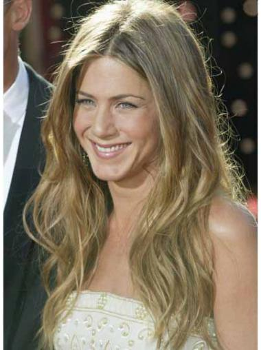 Jennifer Aniston Wigs Remy Human Lace Front Blonde Color Long Length
