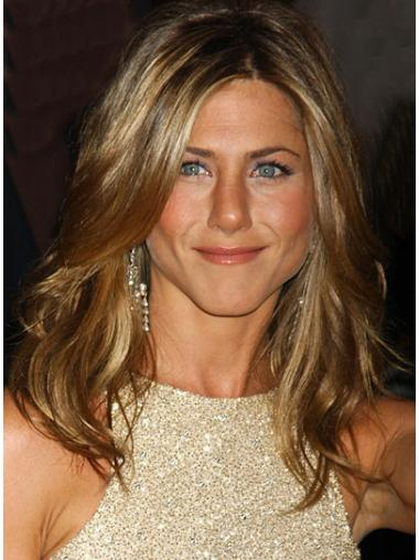 "Long Wavy Without Bangs Capless Blonde Popular 18"" Jennifer Aniston Wigs"