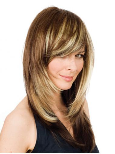 "16"" Blonde Long Layered Wavy Comfortable Lace Wigs"