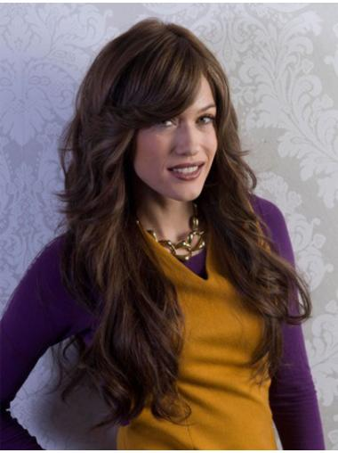 Lace Front Brown Wavy Remy Human Hand Tied Wigs Human Hair